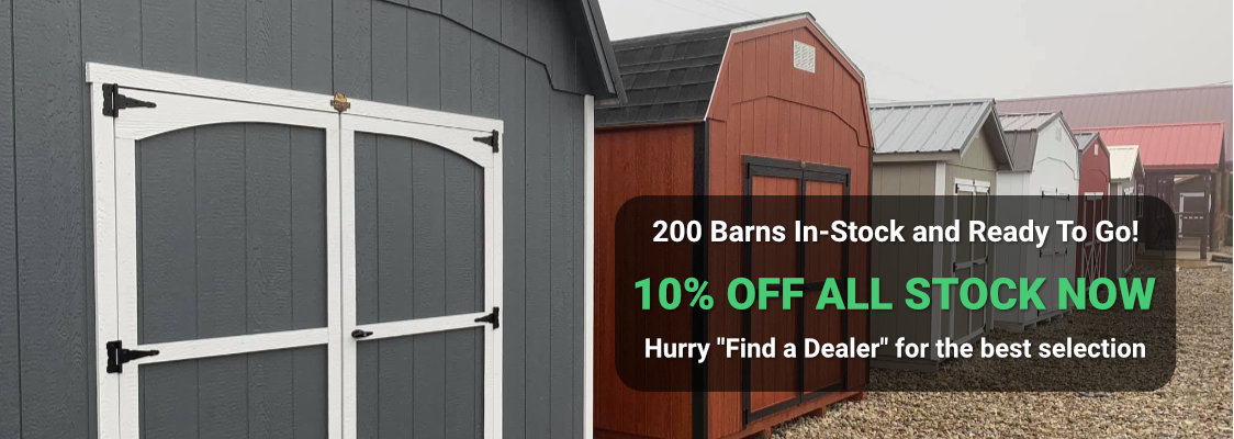 200 Barns on sale for 10% OFF!