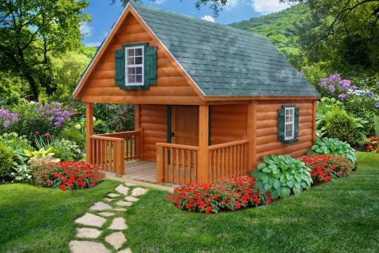 8X12 PIONEER PLAYHOUSE